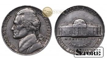 Монеты США , 5 центов - 1982 год P