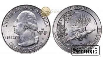 Монеты США , 1/4 доллара - 2015 год D (Национальный лес Кисатчи)
