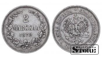 1872 Finland Emperor Nicholas II (1895 - 1917)) Coin Coinage Standard 2 markkaa KM#7 #F329