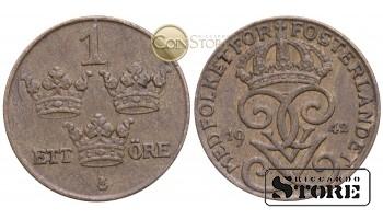 Швеция , 1 эре 1942 год