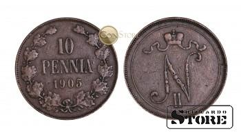 ФИНЛЯНДИЯ , 10 ПЕННИ 1905 ГОД