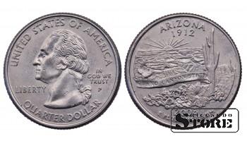 1/4 ДОЛЛАРА 2008 ГОД - Arizona P