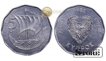 Кипр , 5 центов 1982 год