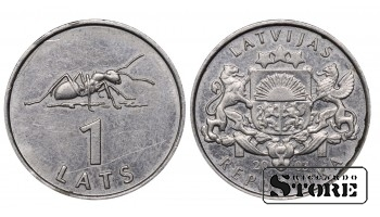 2003 Latvia 2nd Republic (Latvija) (1992 - 2013) Coin Coinage Standard 1 Lats KM#12 #LV468