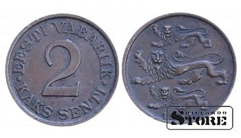 2 сантима 1934 год , Эстония
