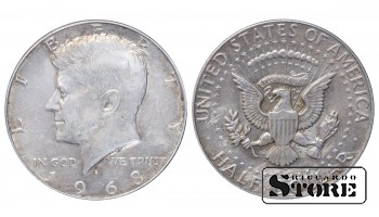1968 USA United States of America (1951 - 1980) Coin Coinage Standard Half Dollar KM# 202a #US277
