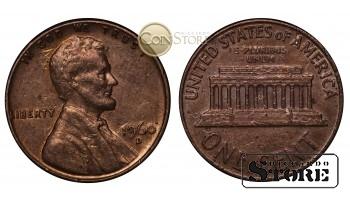 Монеты США , 1 цент  1960 год D