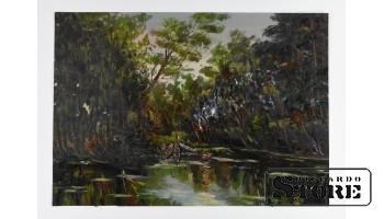Картина, Пейзаж , картон - масло , 43X31 СМ , Арманд Берзиньш , 1962 год