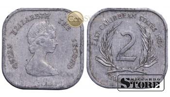 Восточные Карибы , 2 цента 1984 год