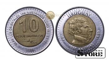 Уругвай , 10 песо , 2000 год
