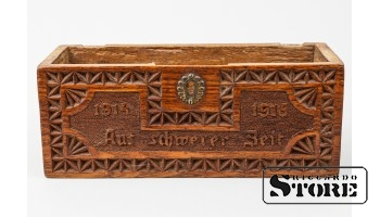 Деревянный коробок, Aus schwerer Zeit , 18 x 7 cm