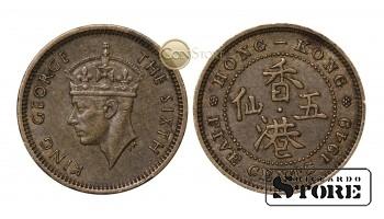 Гонконг , 5 центов 1949 год