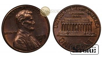 Монеты США , 1 цент 1975 год D