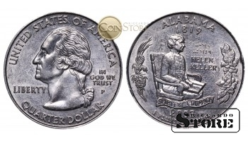 Монеты США , 1/4 доллара - 2003 год P (Квотер штата Алабама)