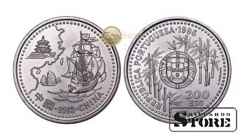 Португалия , 200 эскудо, 1996 год (Прибытие португальцев в Китай в 1513 году)