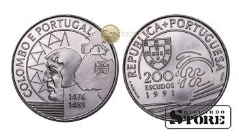 Португалия ,200 эскудо 1991 год (Христофор Колумб в Португалии)