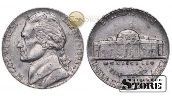 Монеты США , 5 центов - 1993 год P