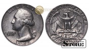 МОНЕТЫ США , 1/4 ДОЛЛАРА - 1968 ГОД
