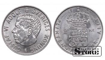1953 Sweden King Gustaf VI Adolf (1950 - 1973) Coin Coinage Standard 1 Krona KM#827 #SW111