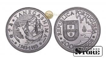 Португалия , 200 эскудо, 1993 год (450 лет с момента первой высадки в Японии на острове Танегасима)