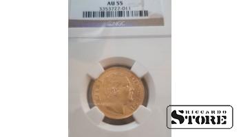 Монета , 20 Динара 1882 год , Королевство Сербия - AU55