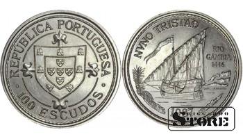 Монета 100 эскудо 1987 год Португалия. Золотой век открытий - Нуну Триштан