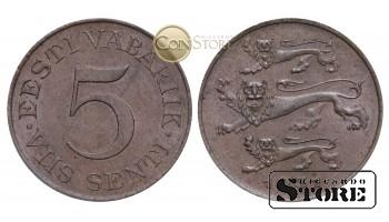 Эстония, 5 центов 1931 год