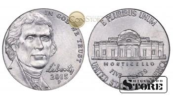 Монеты США , 5 центов - 2015 год P