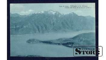 Старинная итальянская открытка Lago di Como, острова