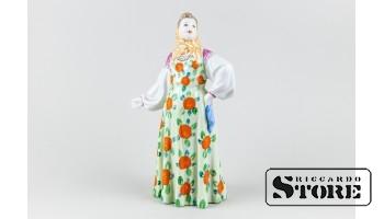 Статуэтка , Танцующая девушка, Дулевский фарфоровый завод , 60-е годы , 20 см