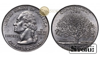 Монеты США , 1/4 доллара - 1999 год P (Квотер штата Коннектикут)