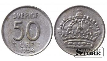 1956 Sweden King Gustav V (1908 - 1950) Coin Coinage Standard 50 Ore KM#825 #SW149