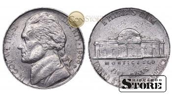 Монеты США , 5 центов - 1990 год D