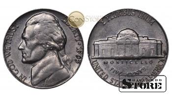 Монеты США , 5 центов - 1963 год