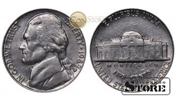 Монеты США , 5 центов - 1989 год D