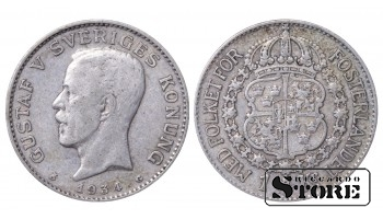 1934 Sweden King Gustav V (1908 - 1950) Coin Coinage Standard 1 krona KM# 786 #17