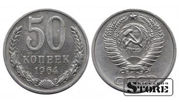 МОНЕТА, СССР , 50 КОПЕЕК 1964 ГОД