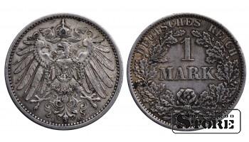 Монета Германия , 1 марки 1915 год , Серебро