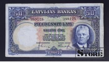 Банкнота, Латвия ,50 лат 1934 год - 399125