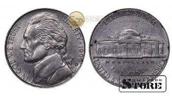 Монеты США , 5 центов - 1999 год D