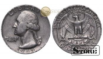 Монеты США , 1/4 доллара - 1965 год