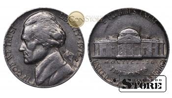 Монеты США , 5 центов - 1975 год