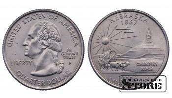 1/4 ДОЛЛАРА 2006 ГОД - Nebraska P