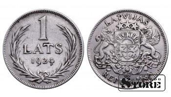 1 ЛАТ 1924 ГОД KM# 7