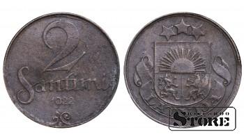 1922 Latvia First Republic (1922 - 1940) Coin Coinage Standard 2 Santimi KM#2 #LV471