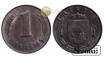 Латвия , 1 сантим 1939 год - UNC