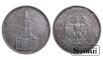1935 Germany Nazi Germany (Third Reich) (1933 - 1945) Coin Coinage Standard 5 reichsmark KM# 86 #G262