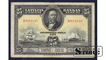 БАНКНОТА, 25 ЛАТ 1928 ГОД - B023147