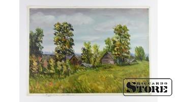 Картина, Браслини , картон - масло , 43X31 СМ , Арманд Берзиньш , 1961 год