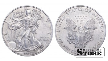 1 Доллар 2009 год Серебро 1 oz / 28.35 g
